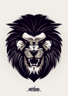 Angry Lion on Inspirationde