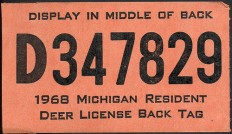 1968 Michigan Resident Hunting License Backtag 2 on Flickr - Photo Sharing!