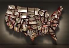 Made of America: Bookcase Shaped Like the 50 States | Dornob
