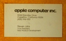 Steve Jobs business card from 1979 - Designers Go To Heaven