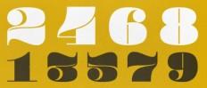 Design Envy · Pompadour Numerals: Andy Mangold