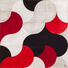 WOWGREAT - Fransicso Castro, White, Black, and Red Acrylic on...