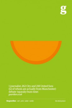 After 'Three Little Pigs', The Guardian Follows Up With Minimalist Posters - DesignTAXI.com