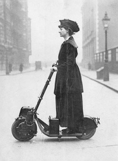 F&O Forgotten Nobility - peerintothepast: Woman on a scooter. 1916
