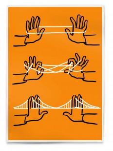Christoph-Niemann-Brooklyne-Bridge-Orange.jpg 800×1,064 pixels