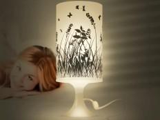 Digitaldruck - Wiese, Gräser, Schmetterlinge - Klublampe - ein Designerstück von Kunst-auf-Lampen bei DaWanda