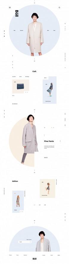 Böll Fashion E-commerce Website on Inspirationde
