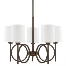 Capital Lighting Halo Collection 5-light Burnished Bronze Chandelier - Free Shipping Today - Overstock.com - 16650613