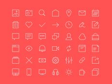 Small Line Icon Set PSD - Free Download | Freebiesjedi