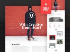 Creative Personal PSD Website Template - Free Download | Freebiesjedi