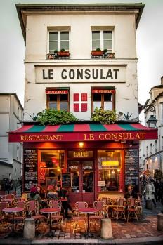 Restaurant Le Consulat. Montmartre, Paris, France on Inspirationde