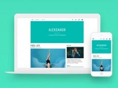 Aleksandr : Minimal Personal Wordpress Theme - Free Download | Freebiesjedi