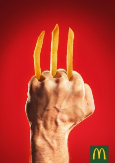 McDonald's Print Advert By DDB: Wolverine on Inspirationde