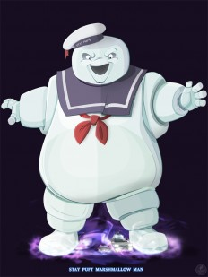 Ghostbusters - Stay Puft by =TraditionalDanimatio