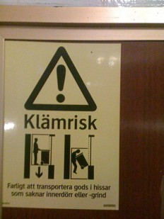 i'm in malmo sweden. in my swedish elevator i discovered one ... on Twitpic