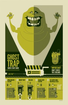 "strongstuff, ""ghostbusters"" inspired technical poster created..."