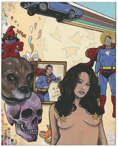 Superman, He-Man and Sasha Grey Kick it in the Art of Steve Seeley - ComicsAlliance   Comics culture, news, humor, commentary, and reviews