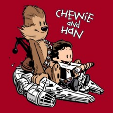 Cool Stuff: Chewie and Han T-Shirt [Calvin and Hobbes Parody]   /Film