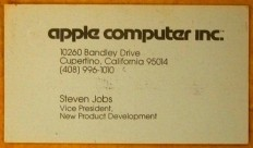 Steve Jobs' 1979 Business Card [Photo] | Edible Apple