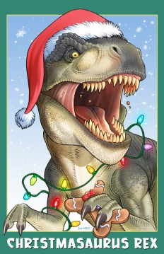 Christmasaurus Rex by *D-MAC
