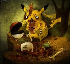 zombie pikachu by *berkozturk