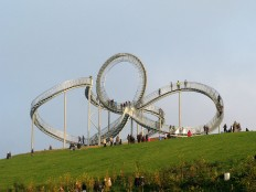 Tiger and Turtle, A Walkable Roller Coaster