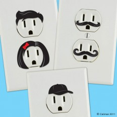 Creative Outlet Stickers Give Electric Wall Outlets Personality