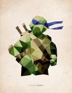 Polygon Heroes - Leonardo Art Print by TheBlackeningCo | Society6