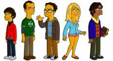 eayz.net | The Big Bang Theory simpsonized