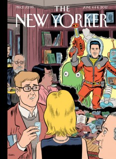 danielclowes.com: New Yorker Science Fiction Issue Cover