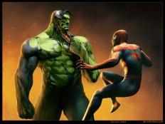 Venom-Hulk hybrid VS Spiderman by Randis - CGHUB