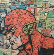 Comic-Collagen: Superheroes made out of comic books - Pew Pew Pew
