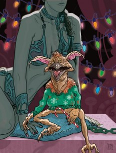 Star Wars Holiday Card Series Illustrated by PJ McQuade