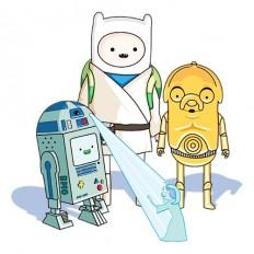 Adventure Time/Star Wars mash-up T-shirt