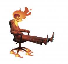 Office Chair Ghost Rider by ~bear65