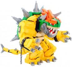 Custom Built Mecha Bowser Made Out of LEGO