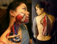 Anatomical Body Art Made With Sharpies & Latex by Danny Quirk