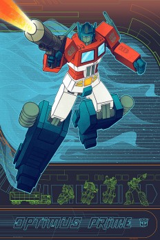 Optimus Prime Transformers Art Print by Kevin Tong