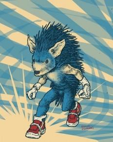 Sonic the Hedgehog Art Print by Ramon Villalobos | Society6
