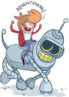 Adventurama, 'Futurama' Characters in the Style of 'Adventure Time'