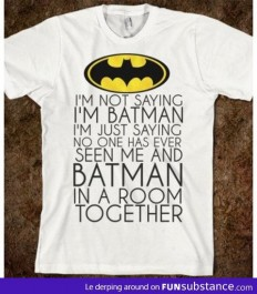 Batman's tshirt - FunSubstance.com | We Heart It