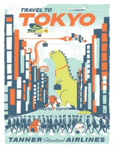 Super Punch: Eric Tan's travel poster-themed show now on sale