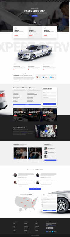 Native – Car Service Landing Page on Inspirationde