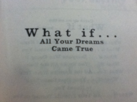 What if... all your dreams came true.
