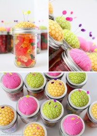 Pin Cushion Jars (fill with buttons, notions……..or candy!!) | Make It and Love It
