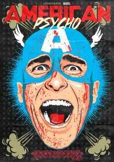 Pop Culture Icons Reimagined with the Screaming Face of Patrick Bateman from 'American Psycho'
