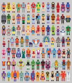 Pixel Masters Art Print by Bradlinf | Society6