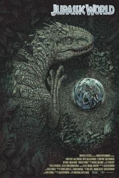 JURASSIC WORLD Print von John Ballaran - PewPewPew