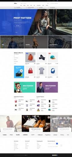 Allo E-Commerce Template on Inspirationde