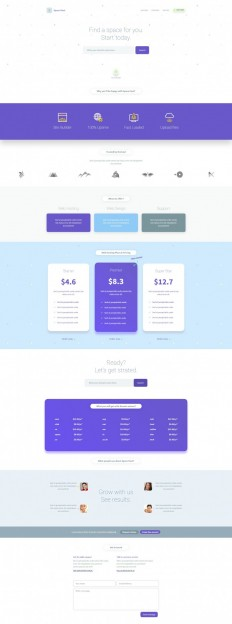 Space Host Landing Page on Inspirationde
